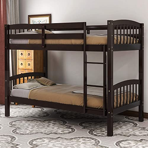 Twin Over Twin Bunk Bed Solid Wood Bunk Bed Frame