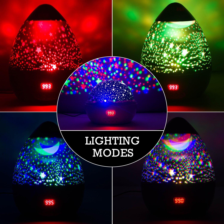 Newest Night Light Multiple Colors Star Light Rotating