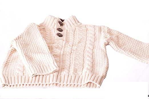 Amazon Cherokee Toddler Boy Cable Knit Sweater Snowfall White