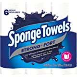 Spongetowels Ultra Strong Paper Towels, Choose-a-size Regular Roll 6 Count