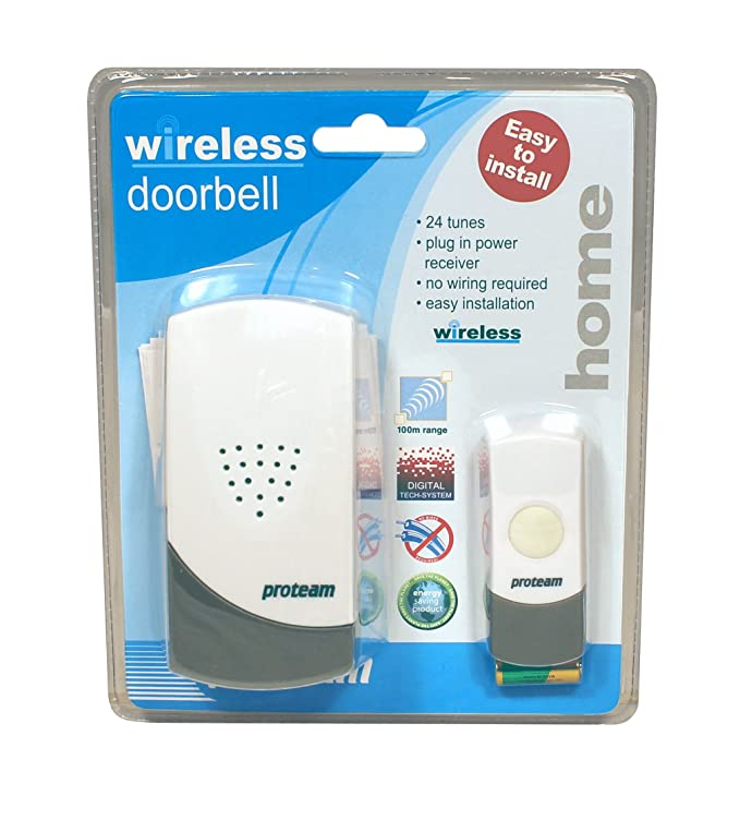 Proteam HO1735 - Wireless Doorbell with Mains Power: Amazon.co.uk ...