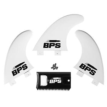 BPS reforzado con fibra de vidrio Tabla de surf aletas (3) + tornillos y