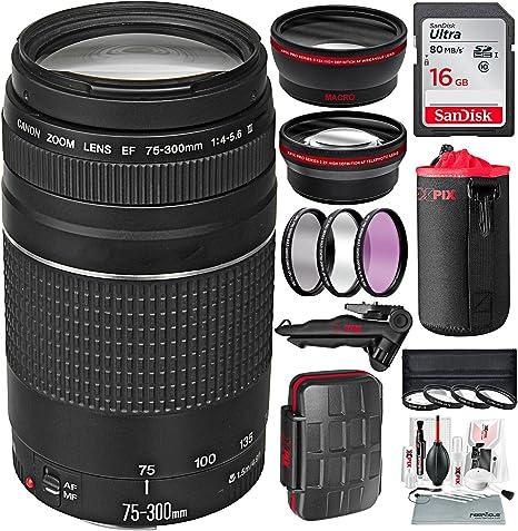 Canon EF 75 – 300 mm f/4 – 5.6 III Lente de Zoom telescópico para ...