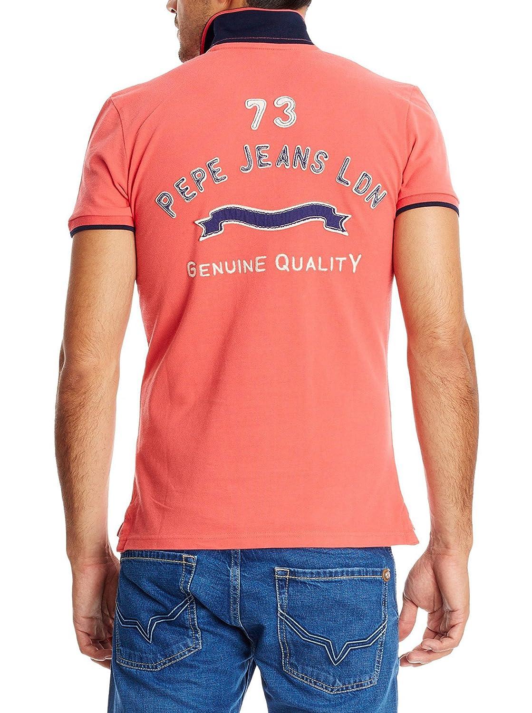 Pepe Jeans London Polo Bernard Rojo Claro XS: Amazon.es: Ropa y ...