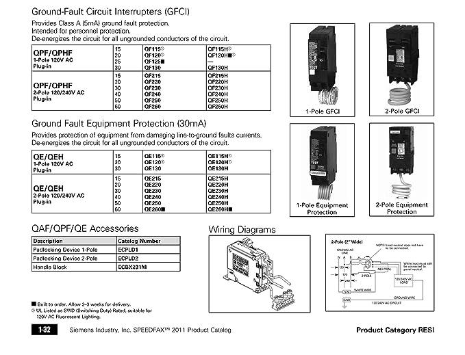 Sie QF120 20-Amp 1 Pole 120-Volt Ground Fault Circuit ... on