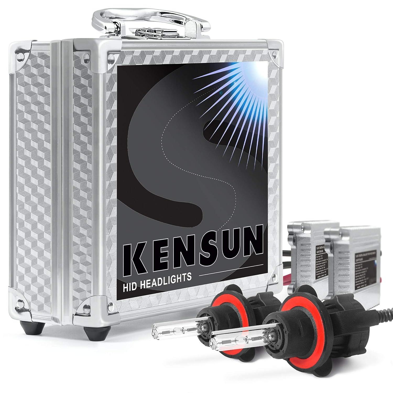 HID Xenon Headlight Conversion Kit by Kensun, H13 Dual-Beam Bi-Xenon, 12000K - 2 Year Warranty