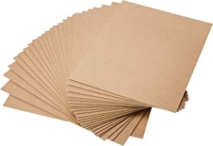 Grafix Medium Weight Chipboard Sheets, 8.5 X 11 Inches, Natural, 25-Pack