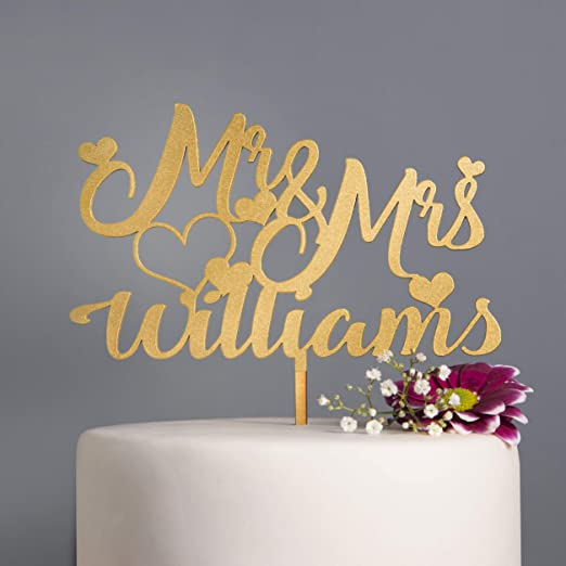12 x Personalised Wedding Initials cupcake toppers Engagement Wedding