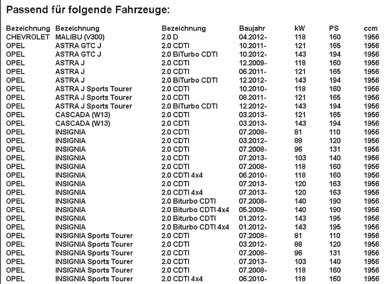 5L ORIGINAL Opel antifricción dexos2 5 W30 Astra J Zafira Tourer C insignia 2.0 CDTI: Amazon.es: Coche y moto