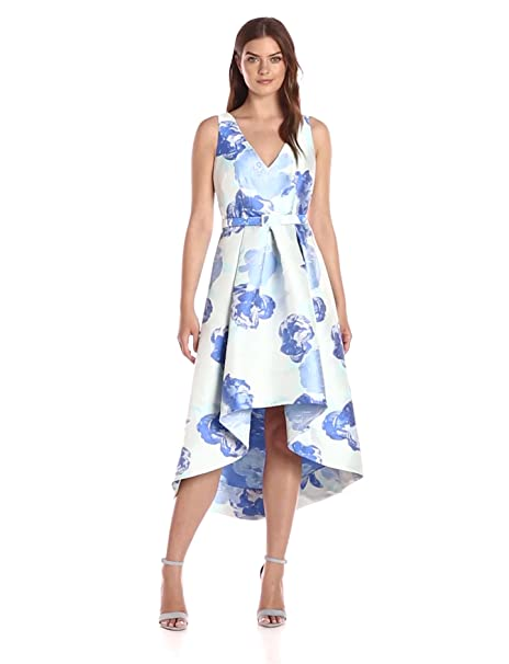 6b21b83e8285 Eliza J Women s V-Neck High Low Floral Dress at Amazon Women s Clothing  store