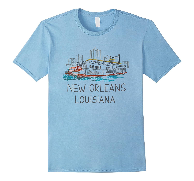 New Orleans Steamboat Louisiana T Shirt Tshirt Tee Goatstee