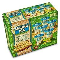 Mauna Loa Dry Roasted Macadamia Nuts (Maui Onion and Garlic 4oz Cup (Pack of 6))