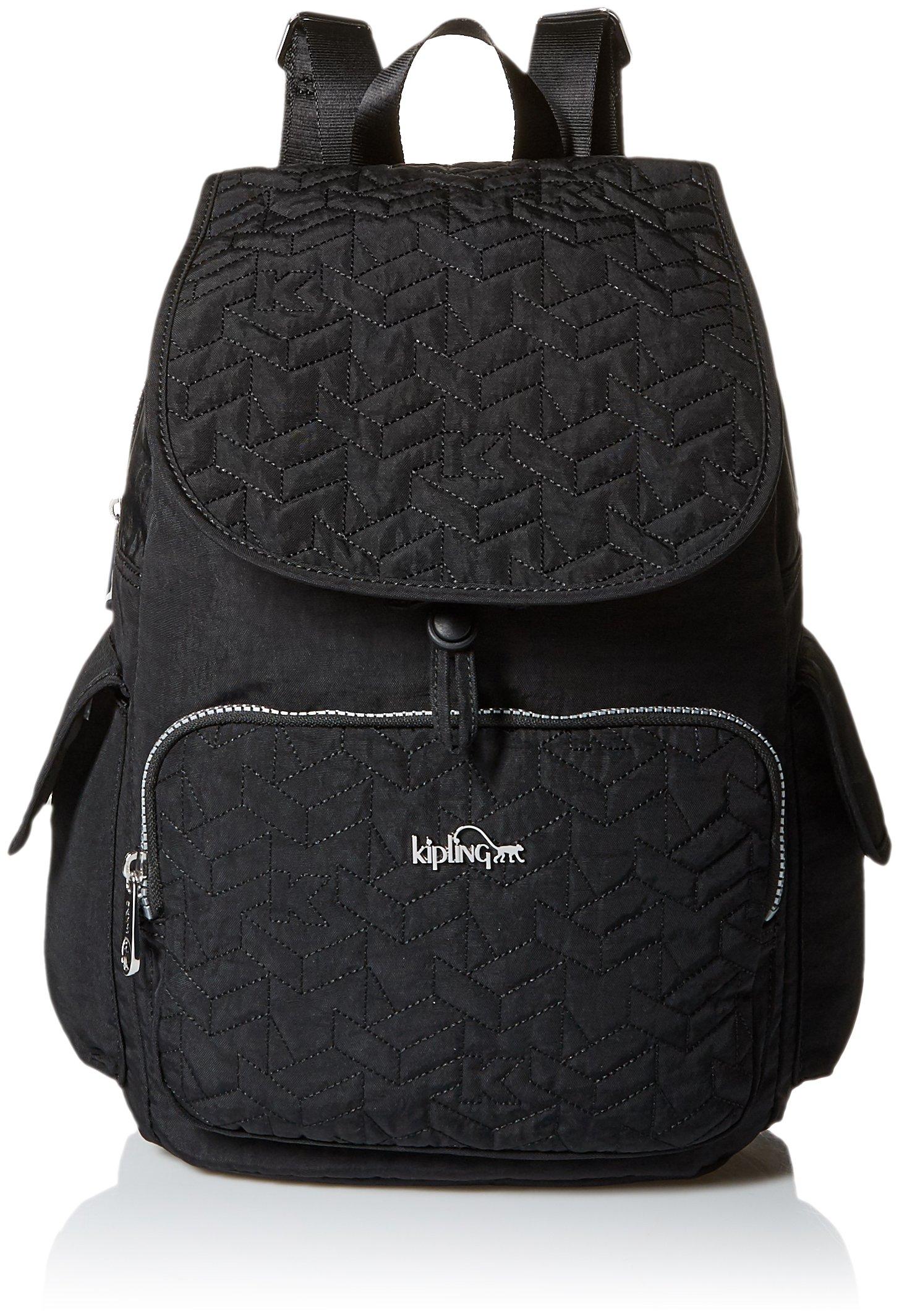Kipling Women's Ravier Medium Solid Backpack, Black