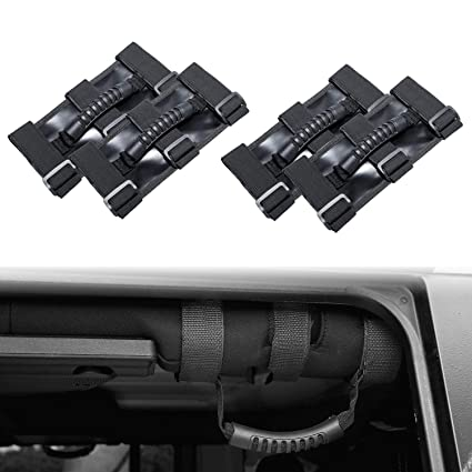 Jeep Roll Bar Grab Handle, Heavy Duty With Adjustable Straps Jeep Wrangler  Accessories For Jeep