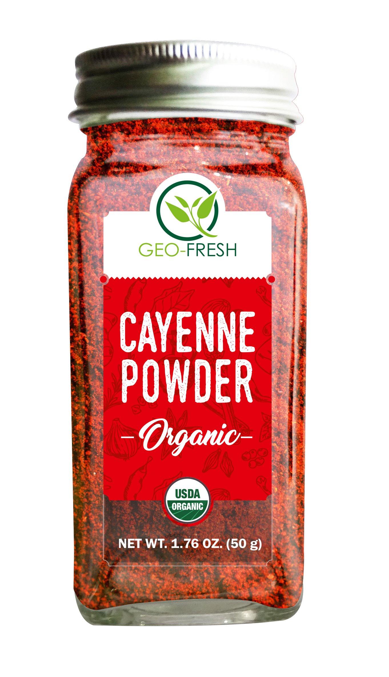 Geo-Fresh Organic Cayenne Powder 1.76 OZ. (50 g)