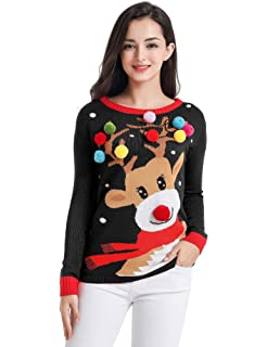 daisysboutique Mens Christmas Holiday Snowman Themed Ugly Sweater Cute Pullover