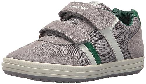 Geox Jr Vita a, Zapatillas para Niños, Gris (Grey/White), 38 EU