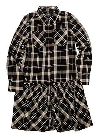 98ccbf41b8e Amazon.com  Ralph Lauren Girls Plaid Twill Shirtdress (5)  Clothing