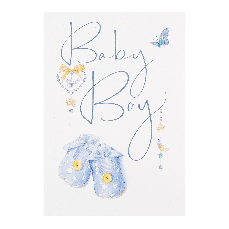 Tarjeta de felicitación para niño recién nacido de Hallmark, mediana ...