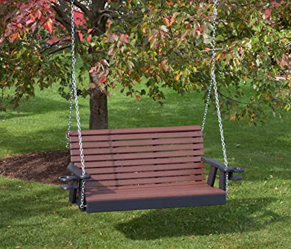 Wondrous 5Ft Cedar Poly Lumber Roll Back Porch Swing With Cupholder Arms Heavy Duty Everlasting Polytuf Hdpe Made In Usa Amish Crafted Ocoug Best Dining Table And Chair Ideas Images Ocougorg