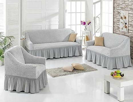 Amazon copridivano antiscivolo divano telo tinta unita for Telo copridivano ikea
