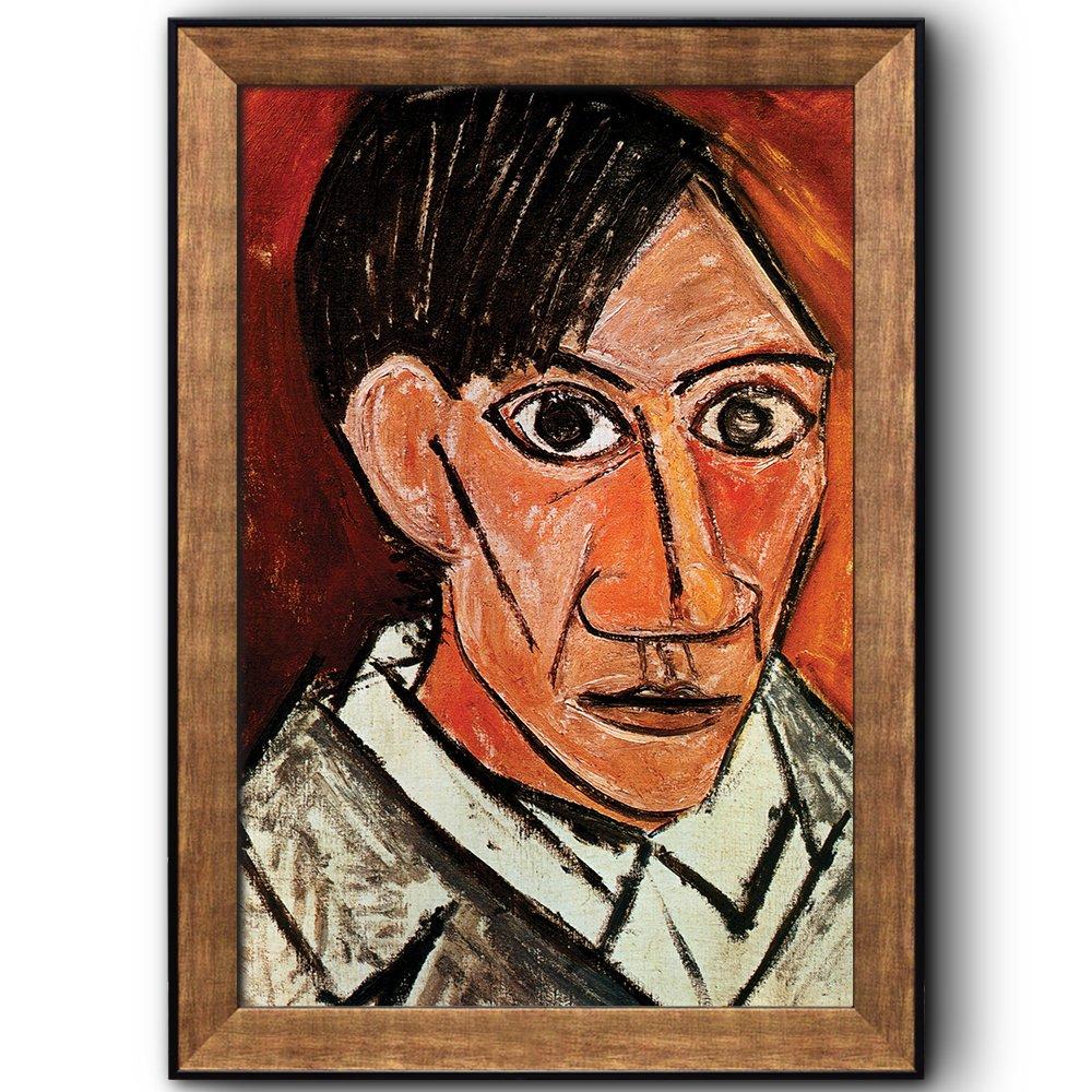 Self portrait 1901 by pablo picasso cubism painter sculptor framed art