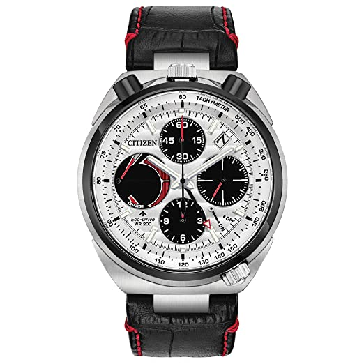 Citizen Reloj de Hombre Eco-Drive Correa de Cuero Caja de Acero AV0071-03A: Citizen: Amazon.es: Relojes