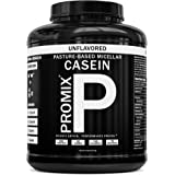 PROMIX Micellar Casein Protein Powder: Unflavored - Results & Recovery, Pre & Post Workout Supplements for Men & Women - High Concentration Pure & Natural Slow Digesting Night Time Proteins - 5 Pounds