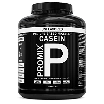 100% Casein Protein Powder I PROMIX Unflavored Micellar I USA Pastures I ONLY 1 Ingredient I Stimulate Muscle Growth & Recovery Slow Release Amino I Preservative Free Keto Bulk 5LB