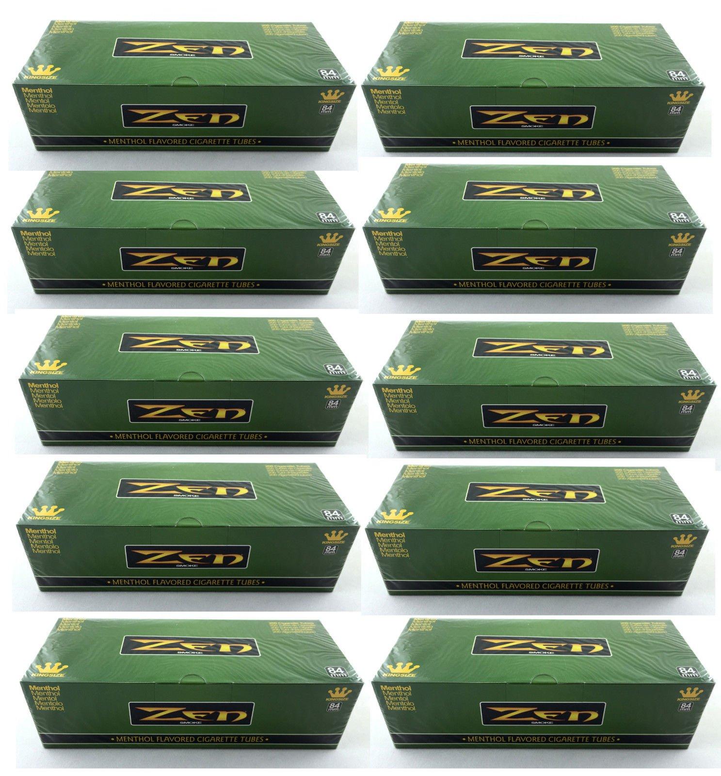 Zen Menthol King Size Cigarette Filter Tubes 200 Tubes per box (10) by ZEN