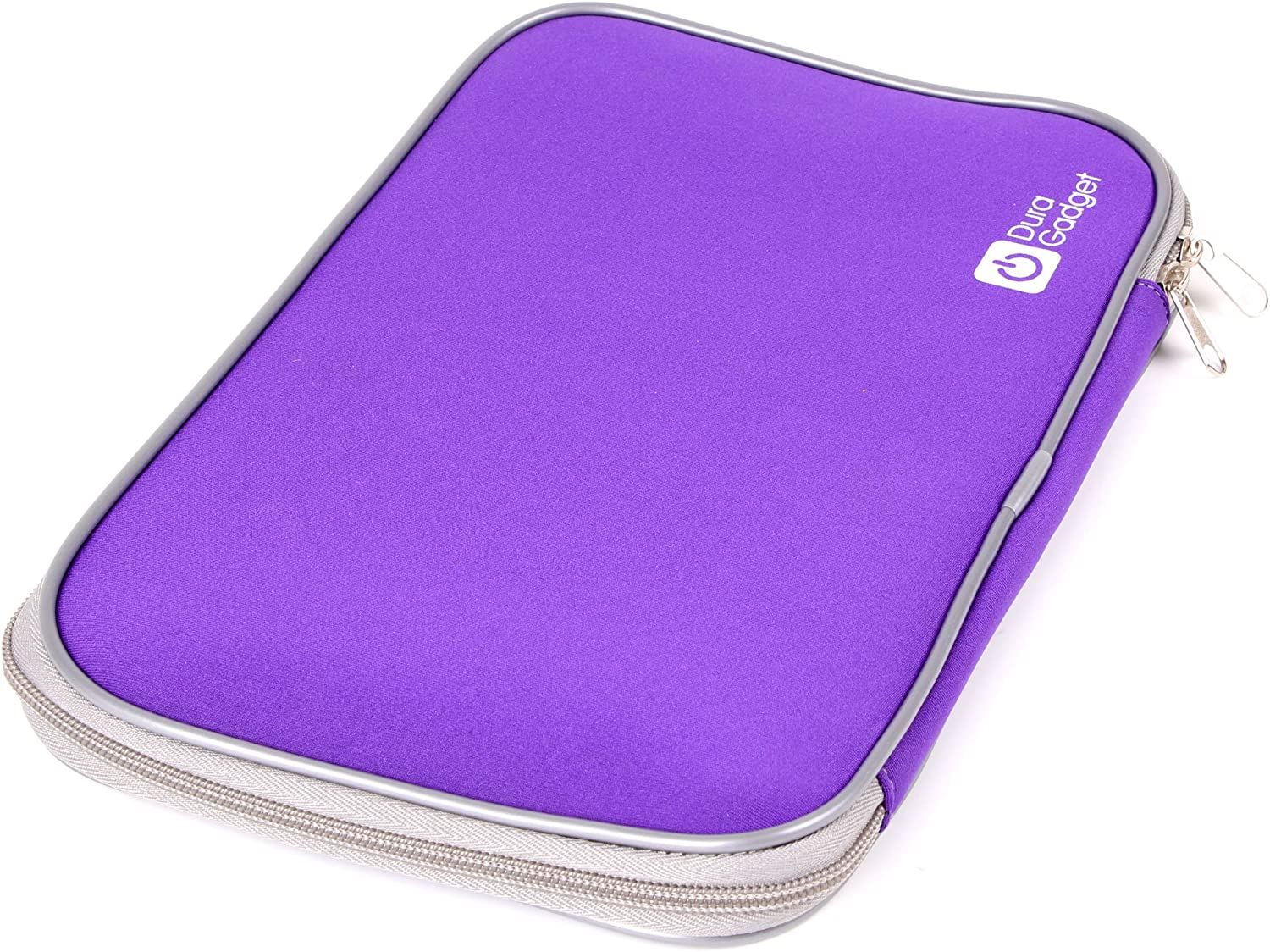DURAGADGET Large Purple Shock Absorbent Neoprene Laptop Sleeve with Dual Zips for New Acer Aspire V Nitro VN7-591G-71W9