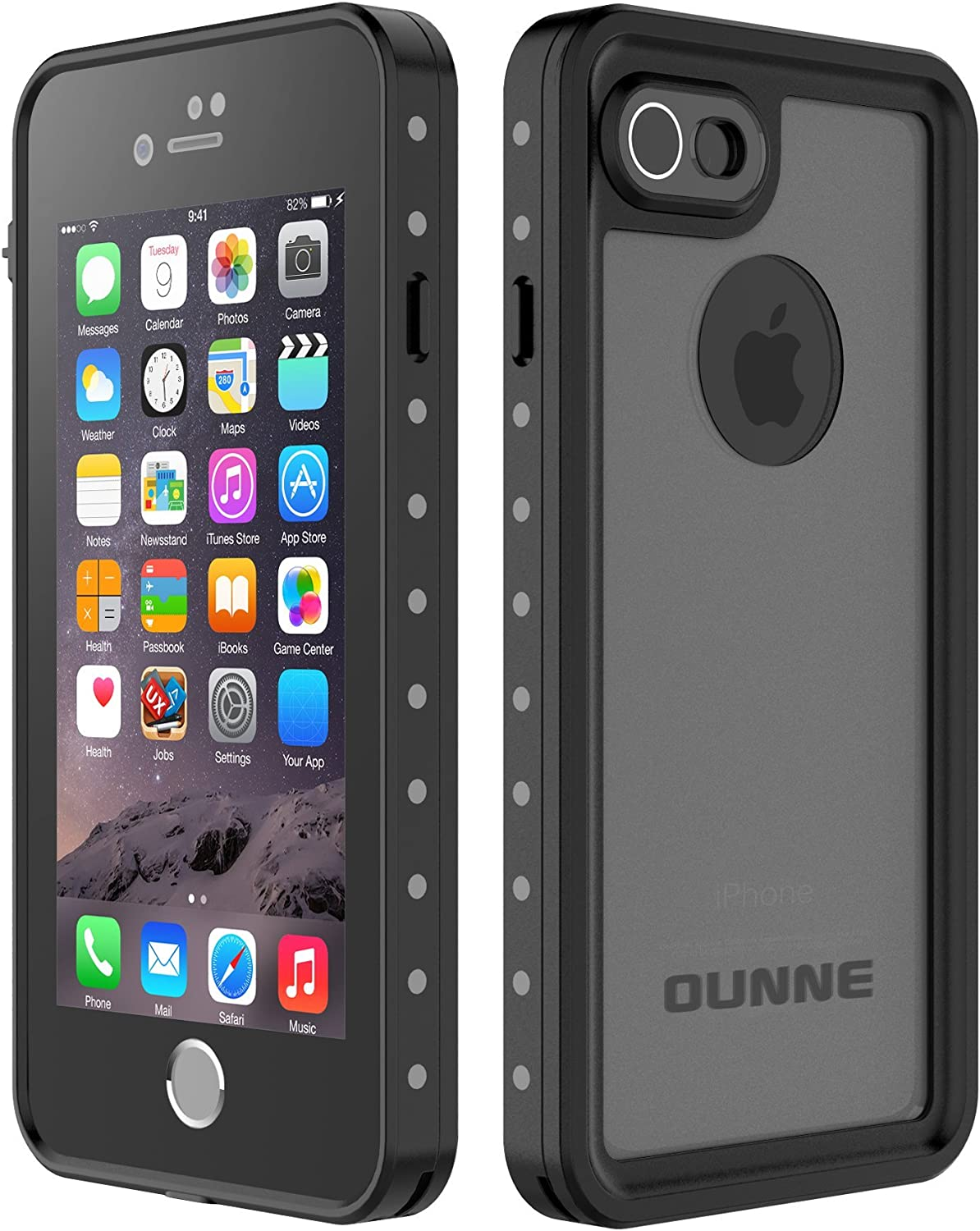 iPhone 7/8 Waterproof Case, OUNNE Underwater Cover Full Body Protective Shockproof Snowproof Dirtproof IP68 Certified Waterproof Case for iPhone 7/8 (4.7inch)