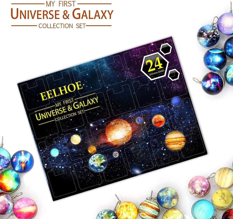 /éducatif enfants univers apprentissage jouet cadeau pour gar/çons filles compte /à rebours calendrier de lavent astronomie Collection cadeaux 2020 no/ël univers et galaxie Collection coffret cadeau