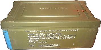 Caja de municiones Munbox munición caja de colour verde de segunda mano cajas de cartuchos: Amazon.es: Bricolaje y herramientas