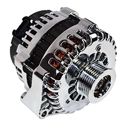 A-Team Performance GM Alternator AD244 Style High Output 220 Amps 12V Chrome Compatible with LS Engine Cars and Trucks: Automotive