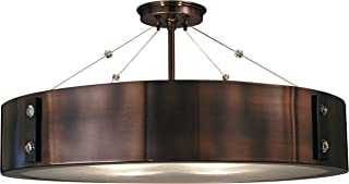 product image for Framburg 5394 RB/EB 4-Light Oracle Flush/Semi-Flush Mount, Roman Bronze/Ebony