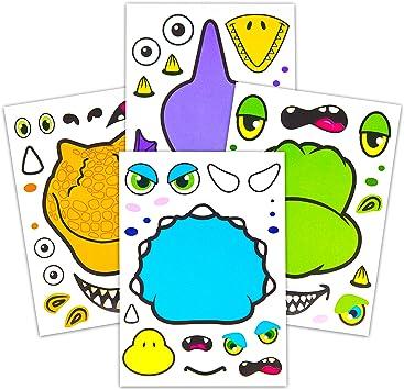 Amazon.com: 24 pegatinas de dinosaurio para niños, diseño de ...