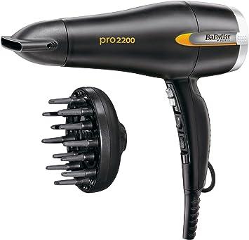 BaByliss D495E Secador de pelo con cabezal difusor, 2200 W
