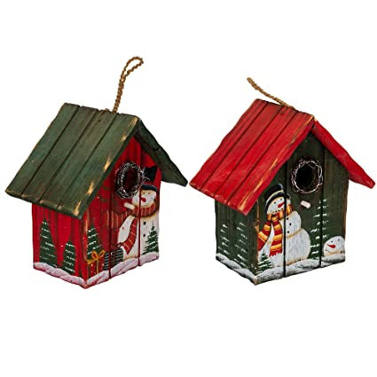 Christmas Birdhouses.Amazon Com Transpac Imports Inc Frolicking Snowman