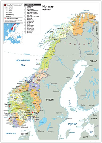 Cartina Fisica Della Norvegia.Mappa Politica Della Norvegia Carta Laminata Ga A2 Clear Amazon It Cancelleria E Prodotti Per Ufficio