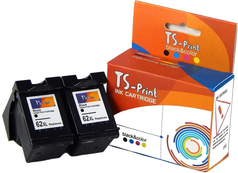 TS-Print 62XL 62 XL HP Remanufacturado 2 Cartuchos de Tinta ...