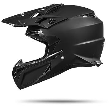 Amazon.es: Ato-Moto MX Mexico Negro Mate Enduro casco de seguridad con la norma ECE 2205