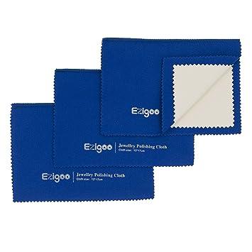 Ezigoo Paño de Pulido para Plata DE 12 x 17 cm - Paños de Pulido para Plata/Oro - Paño para Plata con Varias Capas. Paquete: Amazon.es: Hogar