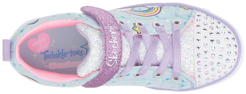 Skechers Kids Girls' Sparkle LITE-Unicorn Craze Sneaker, Light Blue/Multi, 9 Medium US Toddler by Skechers (Image #7)