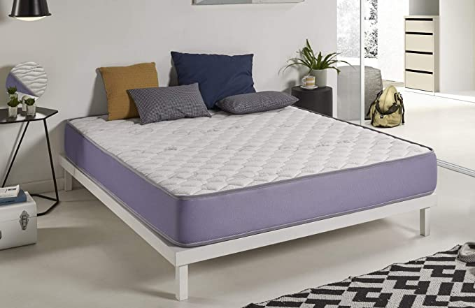 NATURALEX | Matelas Geltech 120x200 cm | Multicouches Blue Latex Mousse A Mémoire Memo Fresh A Microcapsules De Refroidissement | Traitement Gel Effect | Athermique | Adaptabilité Supérieure