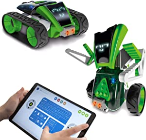 Buildable & Programmable Toy Robot Kit for Kids - Bring Mazzy to Life - Create an Interactive Android or Rover Vehicle Model - Great Educational STEM Learning Toy - Ages 8+