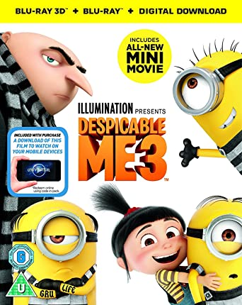 Despicable Me 3 3d Blu Ray 2d Blu Ray Digital Download 2017