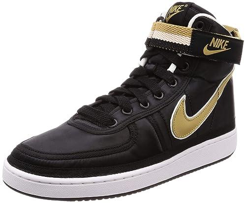on sale 932e6 34888 Nike Vandal High Supreme QS Zapatillas de Baloncesto para Hombre,  Black/Metallic Gold White