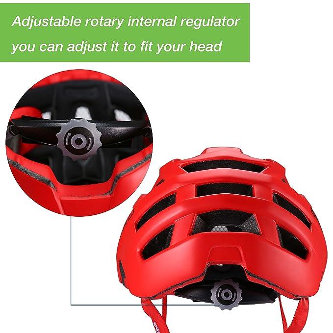 Asvert Casco Bicicleta Carretera MTB Bluetooth de Conducción Ósea con Red de Insectos PC+EPS Doble Protecciones Duradero y Ajustable Bici Montaña para ...