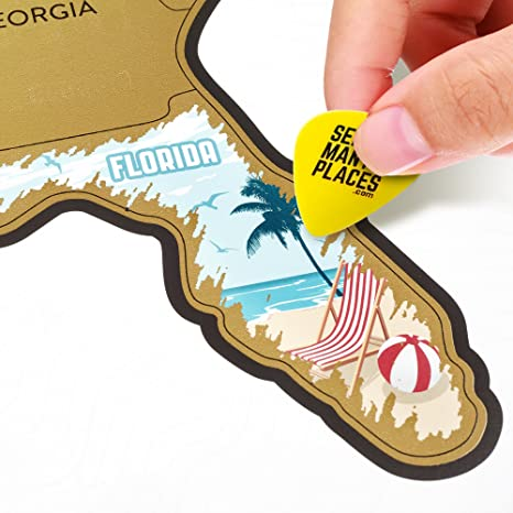 Amazon.com: See Many Places Scratch Off US - USA Map - United States ...